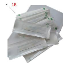 free shipping100pcs/lot 1RL Disposable Sterilized Professional Tattoo Needle For Tattoo Eyebrow Pen Machine Permanent Makeup Kit(China (Mainland))
