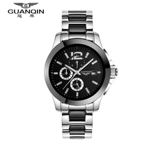 Original GUANQIN Top Brand Luxury  Automatic Mechanical Sport Outdoor Waterproof Ceramic design Sapphire Mirror Mens Watches