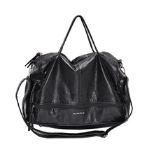 2019 Large Capacity Women Bags Shoulder Tote Bag soft PU Motorcycle Messenger bags casual handbags Top-handle bags Sac a main(China)