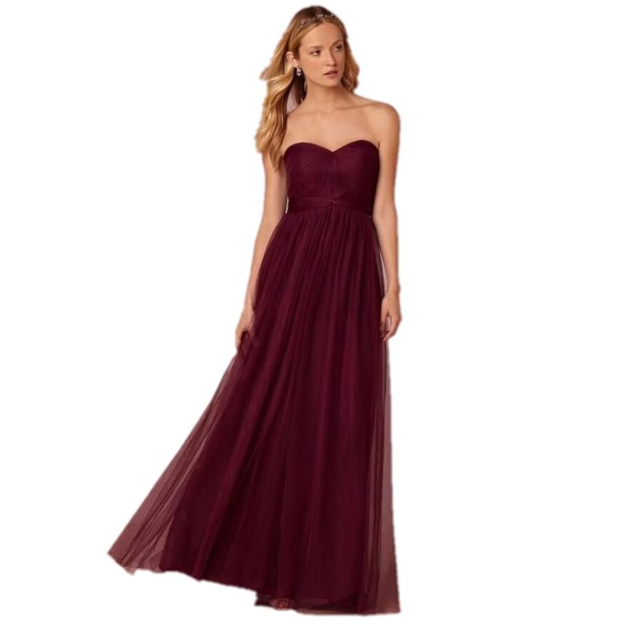 Under 100 sexy burgundy long bridesmaid dresses plus size for Long plus size wedding dresses