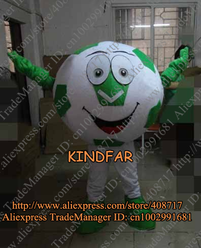 Football Soccer Ball Mascot Costume Cartoon Mascotte Mascota Outfit Suit No.2913 Free Shipping