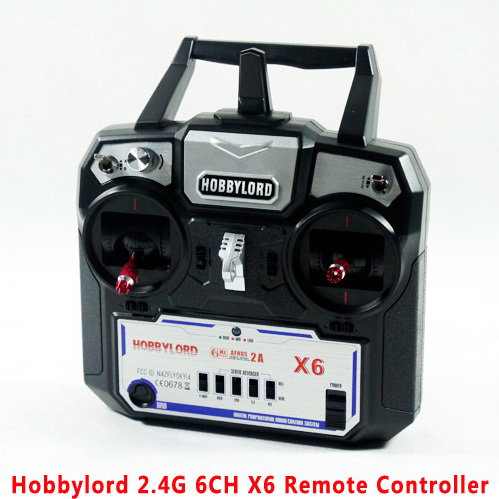 China Factorys Hobbylord  2.4G 6ch X6 Remote Controller For drone RC Helicopter Plane Quadcopter Glider Transmitter and receiver<br><br>Aliexpress