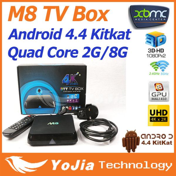 1pc M8 TV Box Amlogic S802 Quad Core XBMC Gotham Android 4.4 Kitkat 2.4G 5G Dual Wifi 2G/8G4K hot sale free shipping M8 box(China (Mainland))