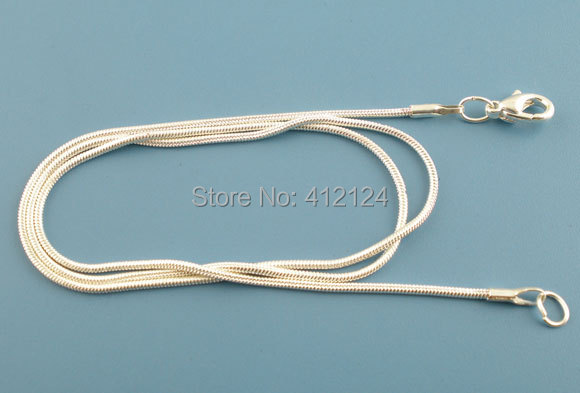250 Wholesale Snake Chain DIY Necklace Lobster Clasp Silver Plated Fit Charms European Beads Jewelry Findings 40.64cm(16
