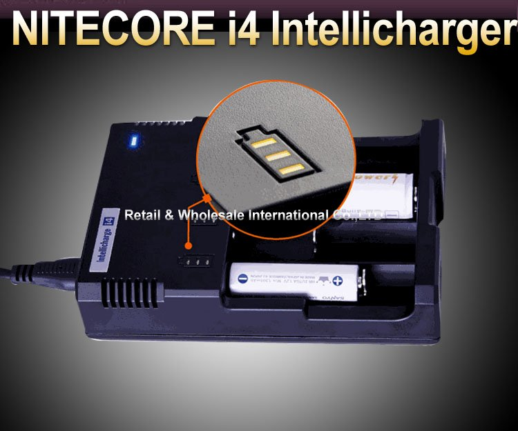NITECORE SYSMAX Version Intellicharger i4 Battery Charger for 26650/22650/18650/17670/18490/17500 Battery