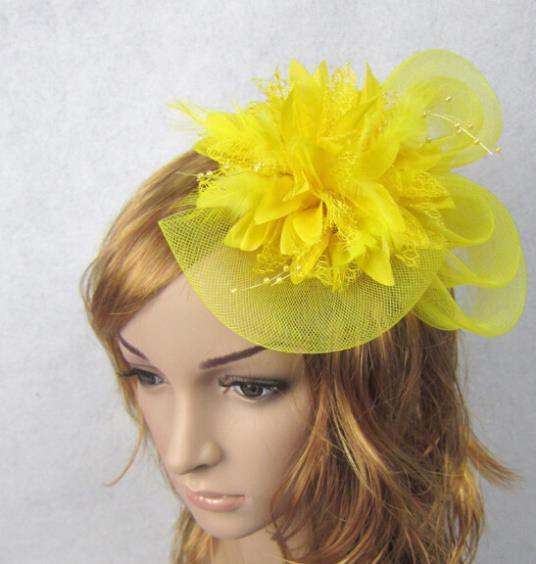 Elegant Mesh Hairwear With Feather Flower Bride Head Chain Ladies Wedding Prom Hair Adornment jt109<br><br>Aliexpress