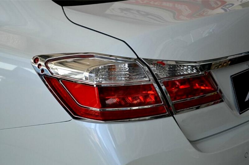 4pcs Car Accessory Rear Tail Light Lamp Cover For Honda Accord 2013 2014 2015(China (Mainland))