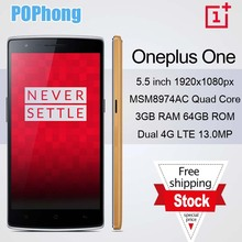 oneplus one bamboo 64gb 5.5 inch FHD 1920*1080 CyanogenMod 11 4g lte phone Snapdragon 8974AC Quad Core 2.5GHz