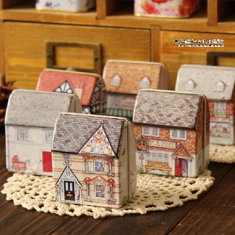 AliExpress.com Product - 6 pcs/lot mini europe house storage tin box organizer candy box jewelry container zakka household