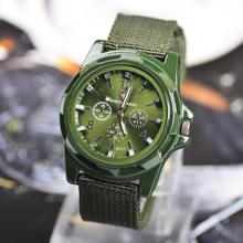 Caliente venta militar para hombre de moda hombres deportes Relojes correa de la tela reloj análogo de cuarzo ocasional Montre Homme Relojes Deportivos