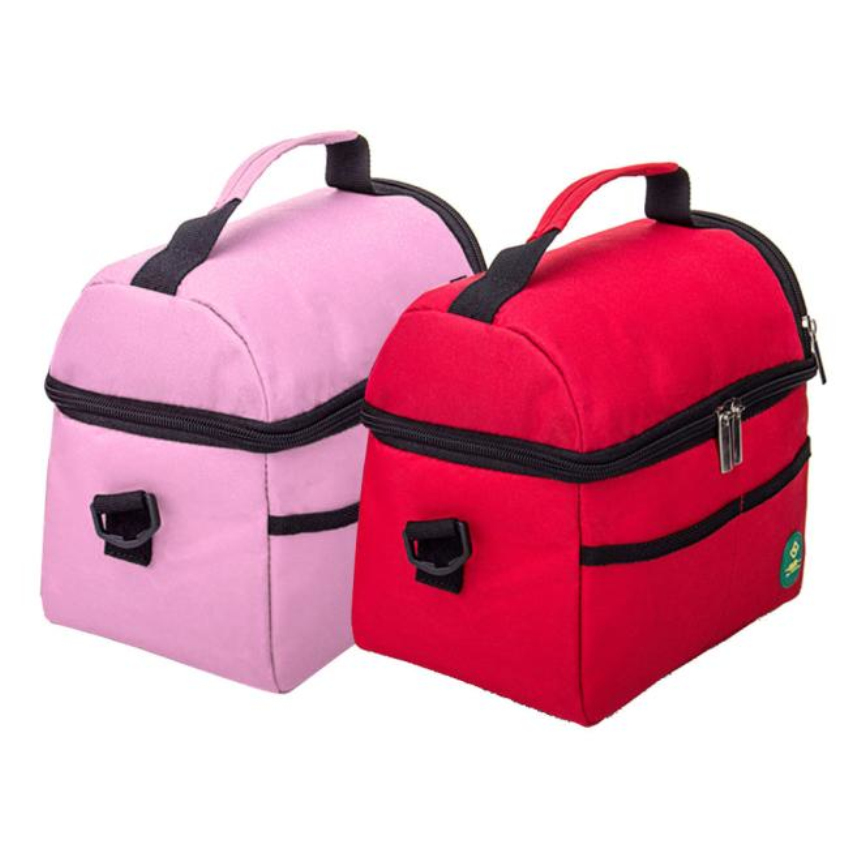 Happy Gifts 1PC Fashion Insulated Waterproof Shoulder Picnic Cooler Meal Bags Storage Box Tote Pink And Red(China (Mainland))