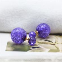 Nuovo stile di estate monili di marca di modo doppio simulato perla orecchini per le donne semplici perline orecchini regalo per la fidanzata(China (Mainland))