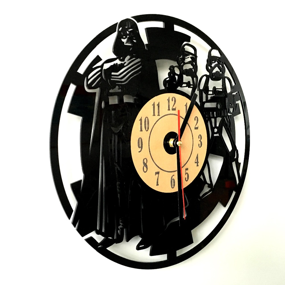 Free Shipping 6 Pieces Star Wars Darth Vader Stormtrooper Artisan Wall Clock Exclusive Laser