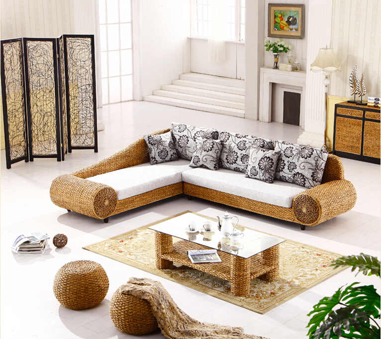 2016 new design fashion leisure handmade rattan sofa for Sofa stool design