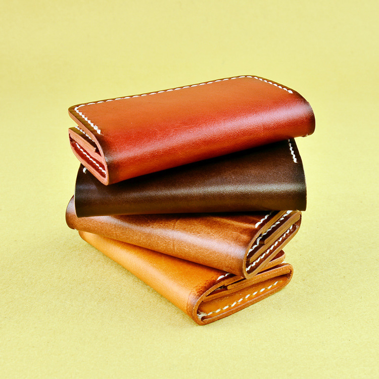 Highlight Personality ID Card Holder Cowhide Name Card Wallet Small Cash Hand Knitting Coin Pocket Good For Business Card Wallet(China (Mainland))