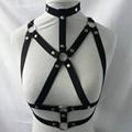 New fashion pastel goth women bust bondage crop top sexy lingerie bondage inspired gothic 90s hot