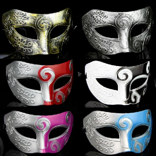 Fashion Plastic Jazz Prince Masks Half Mask For Men Party Bauta Mask Masquerade Party Supplies 20pcs/lot SD222