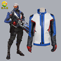 Hot Game Cosplay Coat Soldier 76 Jacket Cosplay Costumes for Adult Men Jacket Gloves Halloween Apparel