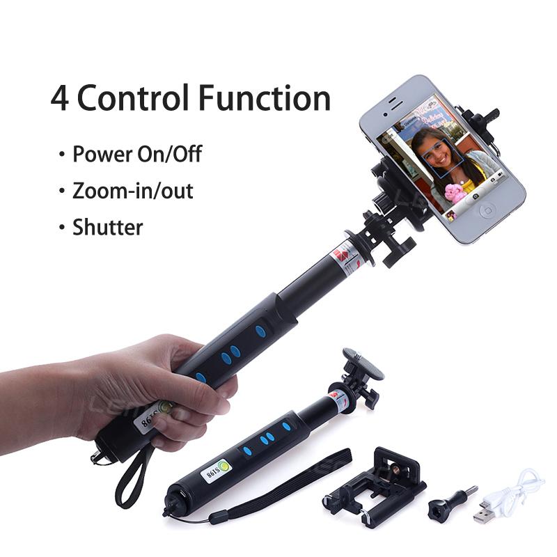 buy magic bluetooth selfie stick phone build in case cover remote wireless camera shutter. Black Bedroom Furniture Sets. Home Design Ideas