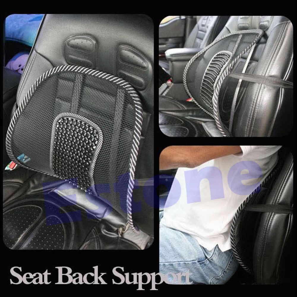 Free Shipping New Cool Vent Massage Cushion Mesh Back Lumber Support Office Chair Car Seat Pad(China (Mainland))