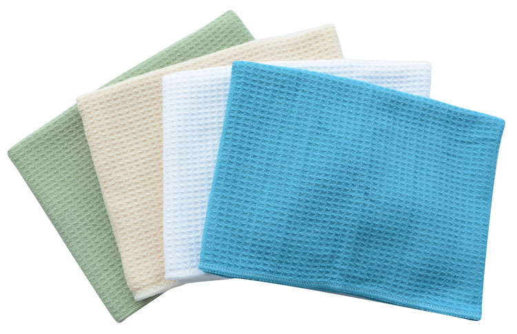 4PC/LOT 40cmx60cm Microfiber Waffle Weave Hair Drying Towel Dishtowel Micro Fiber Pet Towel Dries 10 times Faster(China (Mainland))