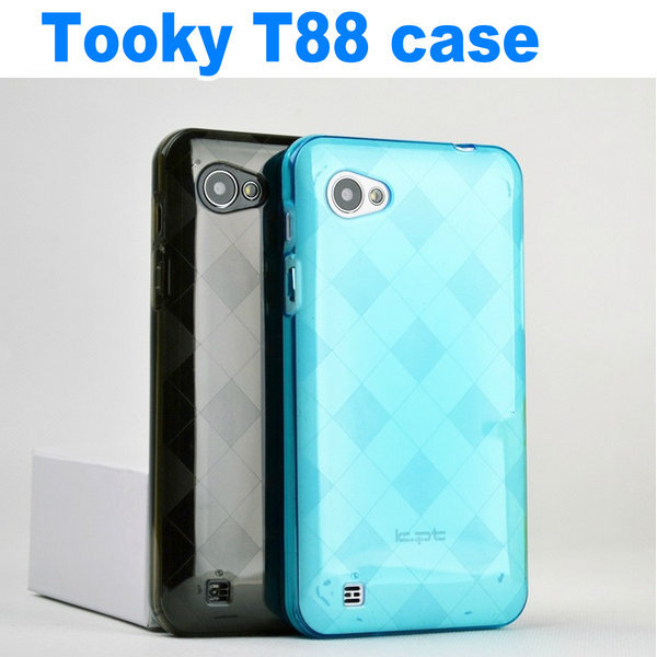 Free Shipping new plastic transparent case cover for TOOKY T88 Android 4.0 MTK6575 5.15 inch phone(China (Mainland))