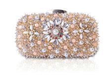 2016 HOT Luxury Crystal Beaded Women's Handbag Purse Party Dress Banquet Beautiful Beaded Embroidery Clutch Bag Evening Bag H20(China (Mainland))