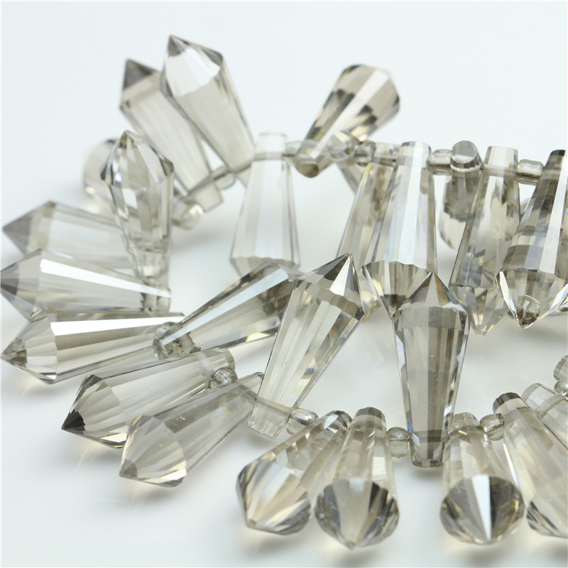 Glass Long Drop Beads 4MM(150Pcs/Lot)Fashion Beads for Jewelry DIY Crystal Drop Sharp Beads Making Materials to Make Necklaces(China (Mainland))