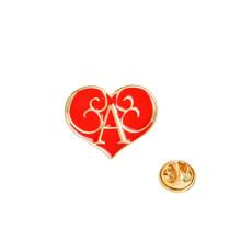 Hati! Hati! Biubiu Menembak Hati Cukup Lucu Hangat Merah Muda Merah Hitam Putih Halloween Acara Anda Cinta Hati Enamel Bros Pin(China)