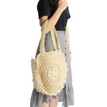 2019 bolsa de Palha Bolsa de Praia Das Mulheres Do Vintage Senhoras Handmade Tecido Rattan Bali Bohemian Bolsa de Ombro Crossbody saco do Mensageiro da Bolsa de Verão(China)
