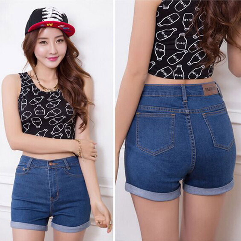 2016 Fashion Summer denim high waist shorts woman jeans ...