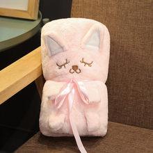Animal de pelúcia Brinquedos de Pelúcia Cobertor Do Bebê Menina Brinquedos Crianças Boneca De Pelúcia Elefante Animal Totoro Porco Brinquedo Ovelhas para As Crianças Para Dormir cobertor(China)