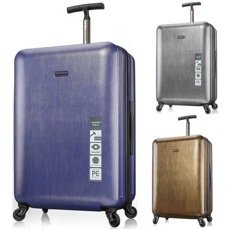 High Quality Pure PC Trolley Luggage Travel Bag Wiredrawing Universal Wheels Luggage Travel Suitcase 21 25 Rolling Luggage<br><br>Aliexpress