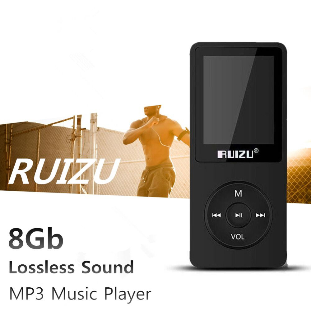"1.8"" TFT Screen Black RuiZu X02 HiFi 4G Reproductor Sport Music Mp3 Player FM Recorder High Quanloty All in Stock 4G MP3 player(China (Mainland))"
