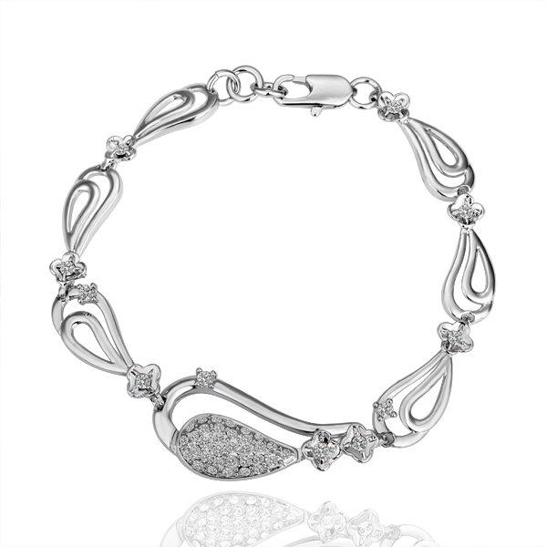 18K Gold Plated Health Charm Bracelet Plating Platinum Rhinestone Crystal SWA Elements women Free Shipping(China (Mainland))
