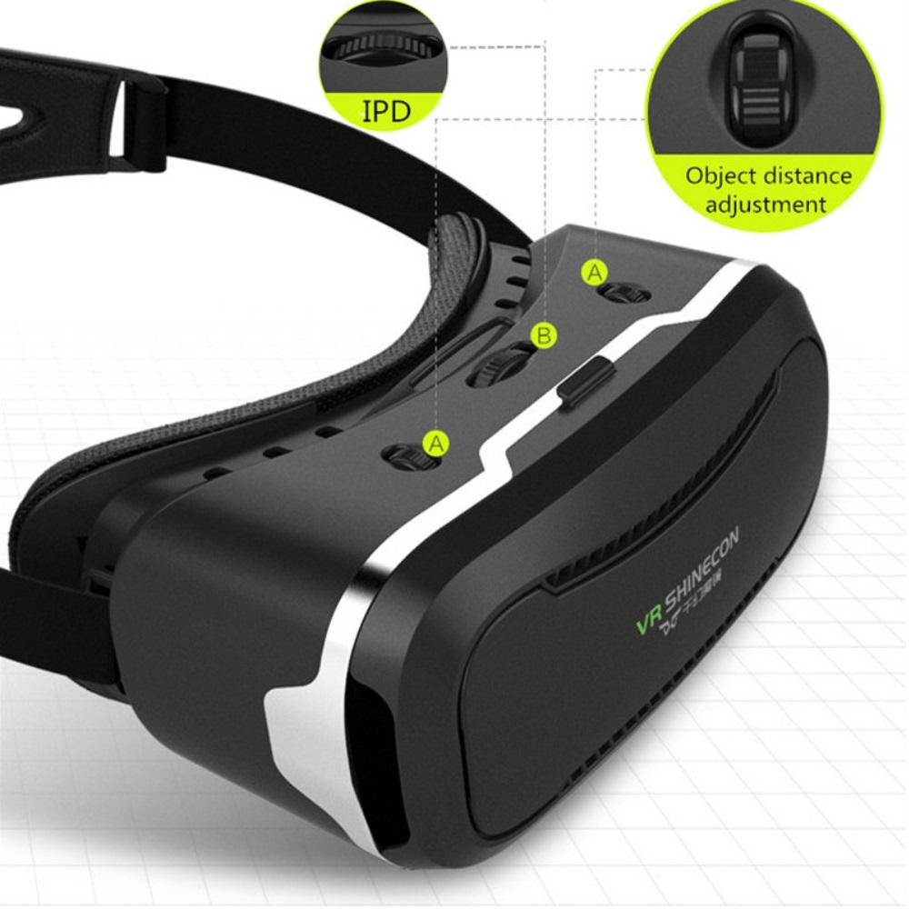 ถูก ต้นฉบับ3D VR Shinecon 2.0ความจริงเสมือนกล่องเกมวิดีโอภาพยนตร์แว่นตาG Oogleกระดาษแข็งหมวกกันน็อคสำหรับ4.7-6.0มาร์ทโฟน+ Gamepad