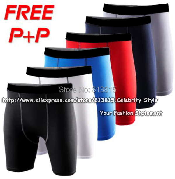 P74 Mens Running Shorts Compression Gear Base Layer Sport Gym Shorts Basketball Training Tights Size S-XXL New 2015 FreeShipping(China (Mainland))