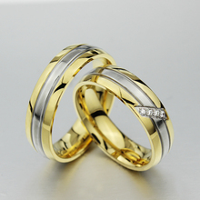High Quality AAA CZ couple rings for men womrn wedding engagement gold ring for 1pcs
