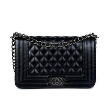 Bags Fashion Ladies luxury PU Leather Handbags shoulder bags for woman brand Vintage Plaid Hasp Chain women messenger bag