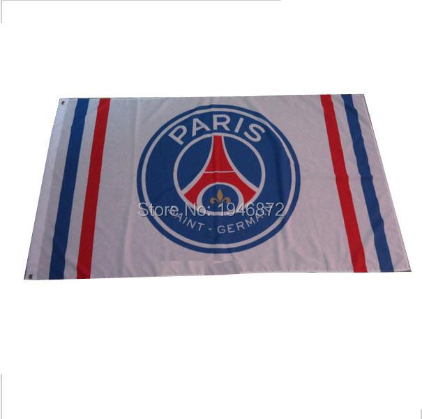 Paris Saint Germain Soccer Flag 3X5FT Soccer Club Flag Custom Sport Flag(China (Mainland))