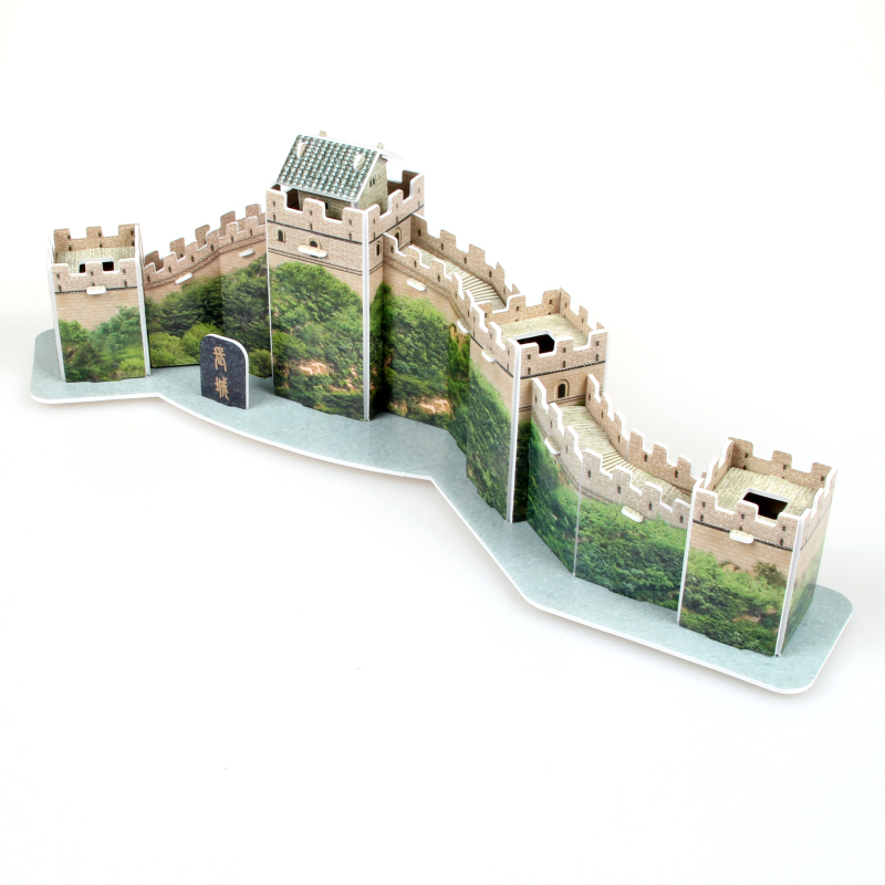 Hot sales jigsaw puzzle the Great Wall 3D puzzle Educational toys three-dimensional puzzles for children and adult(China (Mainland))