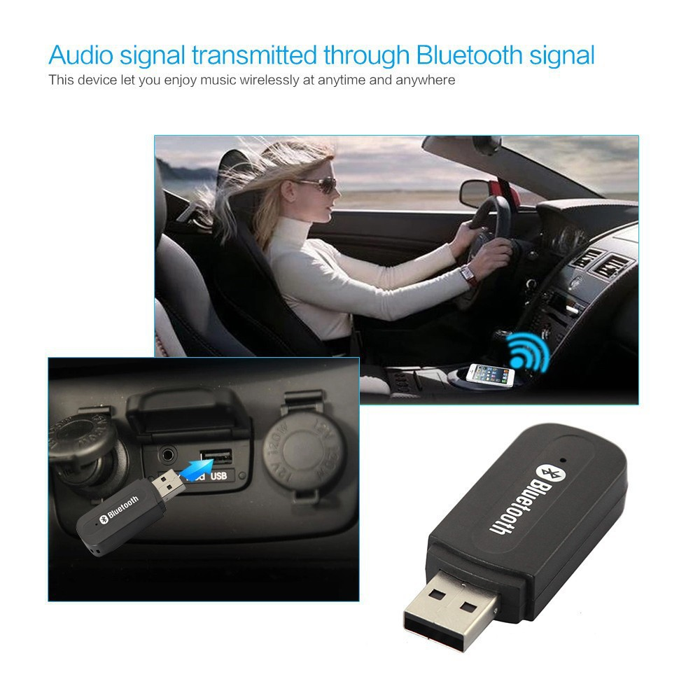 Best Promotion Universal 3.5mm Streaming Car Wireless Bluetooth AUX Audio Music Receiver Adapter Mic Phone MP3 - Smrat Sart store