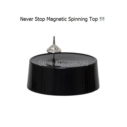 Never Stop Magnetic Field Traction Spinning Top Frictionless Spinning Top No Resistance Spinning Top with Black Base - Table Toy(China (Mainland))