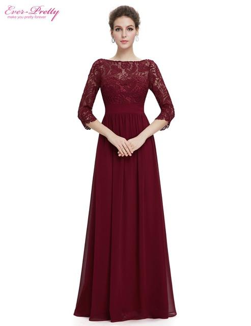 Вечерние платья вечера новое поступление женская элегантный 3/4 рукавом кружева дешевые ...