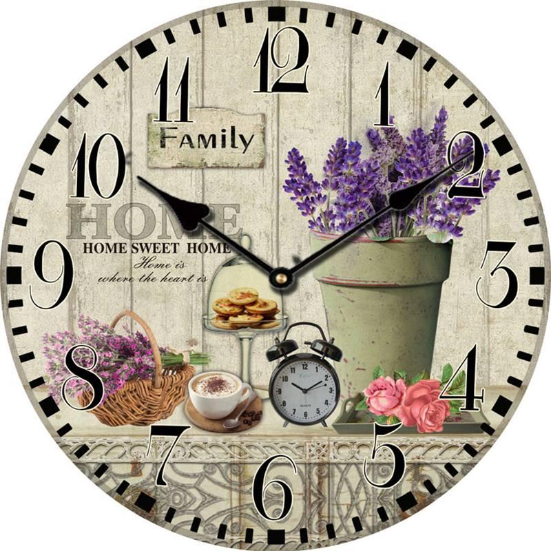 Compra grandes relojes de pared decorativos online al por - Relojes decorativos para salon ...