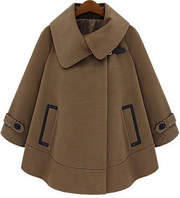 hot 2015 nouveaux automne et d 39 hiver femmes manteau de laine de chameau tranch e manteau cape de. Black Bedroom Furniture Sets. Home Design Ideas