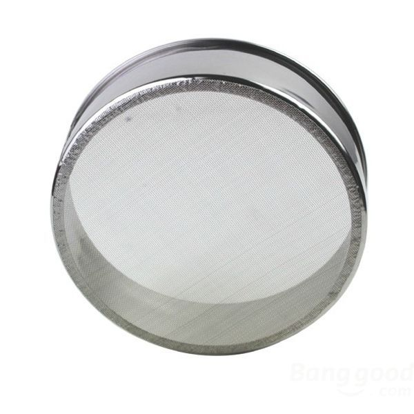 HotHeart Baking Tools Flour Sieve Stainless Steel Circle Filter(China (Mainland))