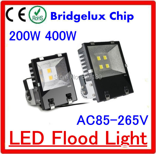 In stock 200w 400w LED Flood Light Outdoor lighting Waterproof ip65 LED Floodlights For Garden Street(China (Mainland))
