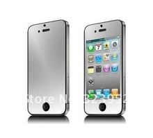 Free Shipping 200pcs/lot Mirror Front LCD Screen Protector Film For iphone 5