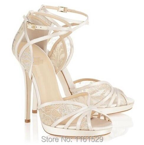 White Lace Sandals White Satin Sandals Lace